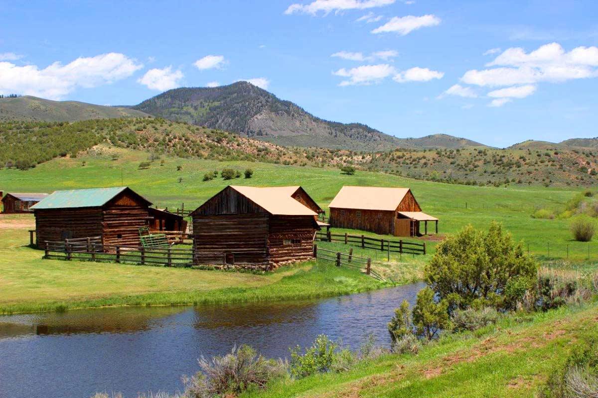 Mountains neighboring ranch