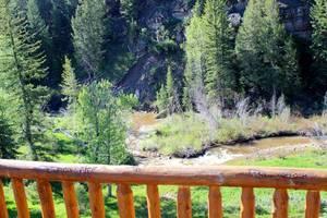 Creek below