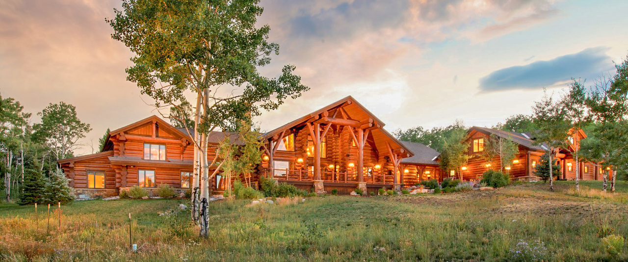 Custom Log Home on Working Ranch in Colorado