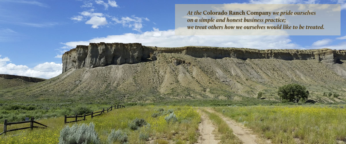 Cliffs behind Kremmling, Colorado as photographed by the Colorado Ranch Company