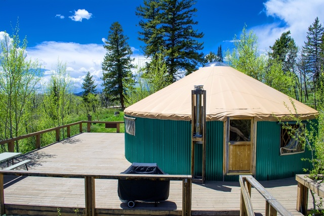Yurt on Spacious Deck at Aspen Ridge Ranch near Kremmling, Colorado